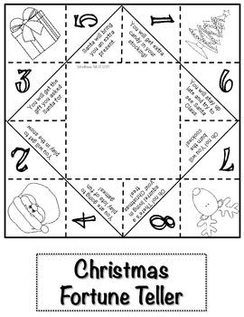 Christmas Fortune Teller {FREEBIE}