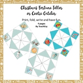 Christmas Fortune Teller or Cootie Catcher BLANK