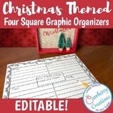 Christmas Four Square Writing Graphic Organizers Template