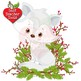 Christmas Fox Clipart, Cute Foxes Clipart, Baby Foxes, AMB-2298