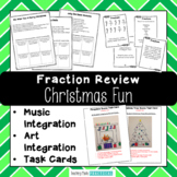 Christmas Fractions Activities - Music, Art Integration - Fun Christmas Math