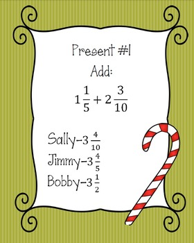 Christmas Fraction Activity