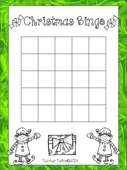 Christmas Fraction Bingo
