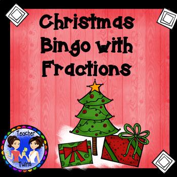 Christmas Fraction Bingo