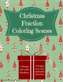 Christmas Fraction Coloring Scenes