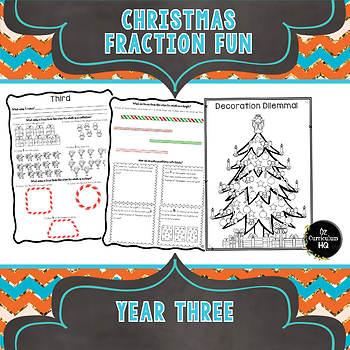 Christmas Fraction Fun Year 3