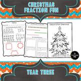 Christmas Fractions Grade 3