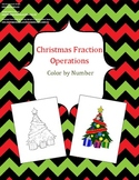 Christmas Fraction Operations - Color by Number