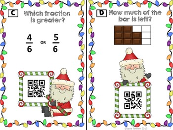Christmas Fractions - Solve and Scan Using QR Codes