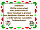 Christmas Fraction Task Cards Ordering Least to Greatest w