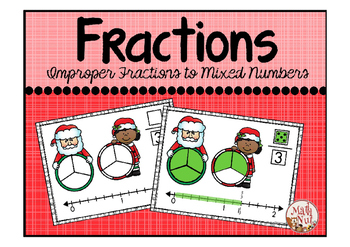"Christmas Math ""Improper Fractions and Mixed Numbers"""