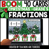 Christmas Fractions Add and Subtract Gr. 5 Boom Cards | Di