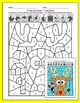 Christmas Math Fractions Color by Code: Santa, Rudolph, Gingerbread Man, Elf
