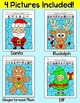 Christmas Math Fractions Color by Code: Santa, Rudolph, Gi
