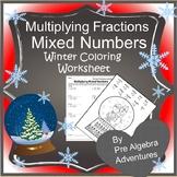 Christmas Fraction Worksheet{Fractions Christmas Activity}{Pre Algebra Christmas