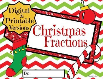 Christmas Fractions: Digital and Printable Versions