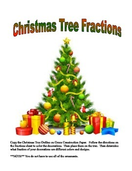 Christmas Fractions Lesson and Art Project