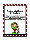 Christmas Fractions Mixed Review
