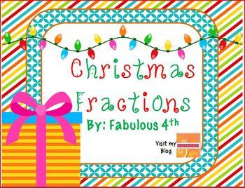Christmas Fractions- Third Grade Skills Games