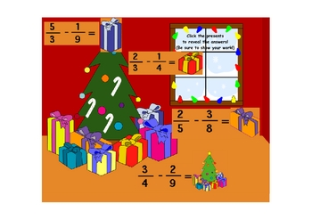 Christmas Fractions - Unlike Denominators