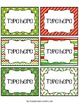 Christmas Frame Labels in 12 Designs!