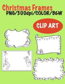 Christmas Frames - CLIP ART