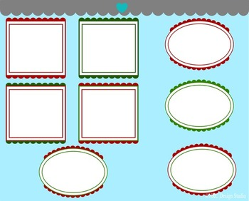 Christmas frames clipart commercial use