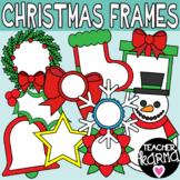 Christmas Frames Clipart, Holiday Borders
