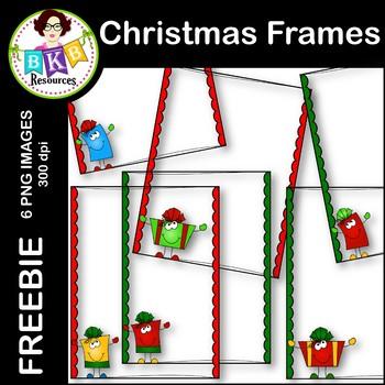 Christmas Frames ● Freebie ● Clip Art