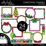 Christmas Frames Outlined Clipart [Ashley Hughes Design]