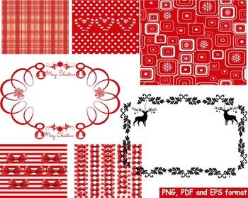 Christmas Frames frame Background clip art red black snow
