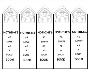 Christmas Activities Bookmarks, Gingerbread House Freebie