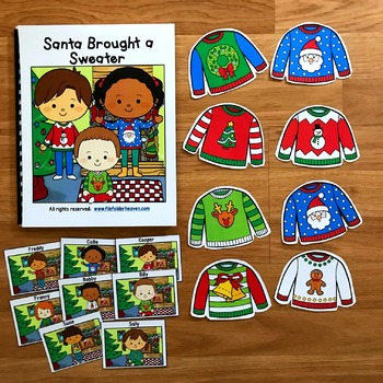"Christmas Adapted Book:  ""Santa Brought a Sweater"""