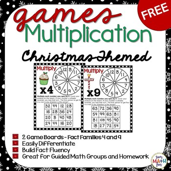 Christmas Free Multiplication Games - Build Fact Fluency