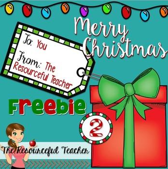 Christmas Freebie 2 - Classroom Management