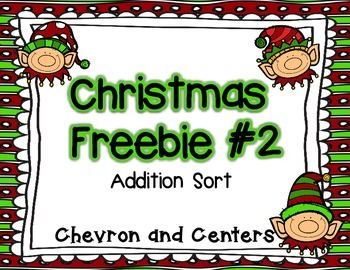 Christmas Freebie #2- Addition sort