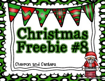 Christmas Freebie #8 Mirror Words
