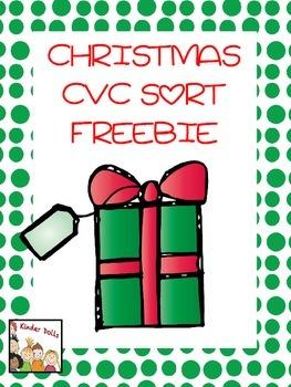 Christmas Freebie CVC Sort