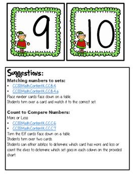 Christmas Freebie: Elf Math Center