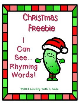 Christmas Freebie ~ I Can See...Rhyming Words! ~ Cut and Paste
