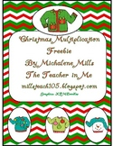 Christmas Freebie Multiplication Repeated Addition Picture Problems Freebie