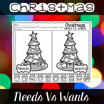 Christmas {Freebie} Needs Vs Wants