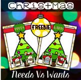 Free Christmas Center - Needs Vs Wants