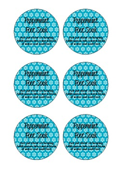 Christmas Freebie: Peppermint Foot Soak Labels and Instructions