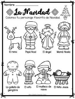 Christmas Booklet in Spanish - Navidad
