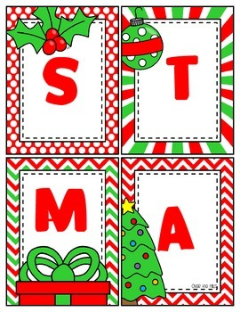 Christmas Freebies Set 2--Making Words