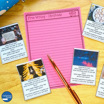 Christmas Freewriting Prompt Cards