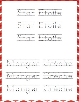 Christmas French Words Learning Pack