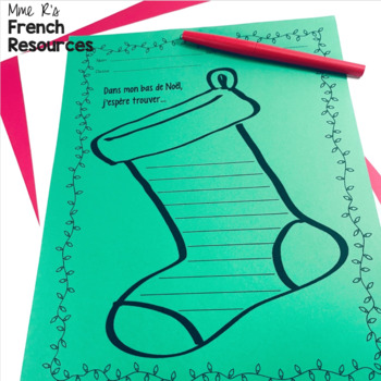 French Christmas speaking and writing activities / activités de Noël
