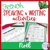 French Christmas speaking and writing activities / activit